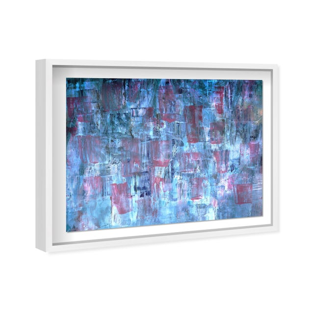 "Oliver Gal Large 'Blue Lavender Waterfall' Framed Art 42"" x 32"" For Sale - Image 4 of 7"