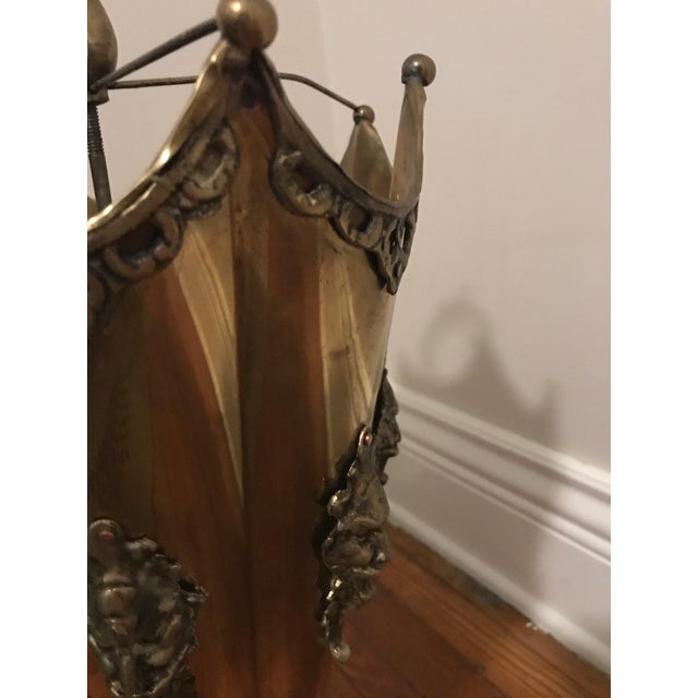 Ornate Brass Umbrella Shaped Umbrella Stand - Image 4 of 7