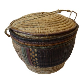 Mexican Lidded Market Basket