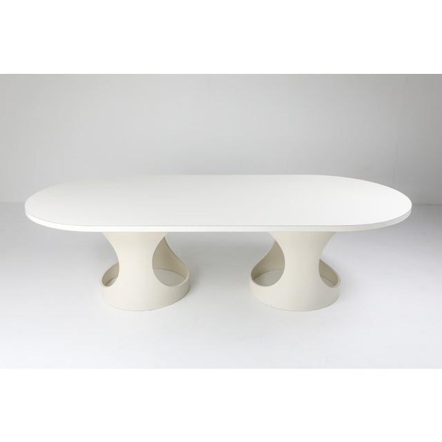 White Arne Jacobsen Pre Pop Dining Table for Asko - 1969 For Sale - Image 8 of 12