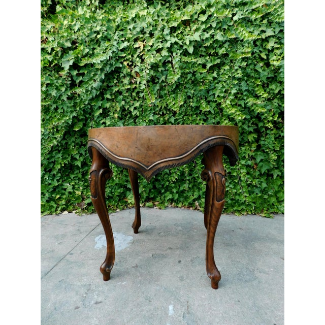 Italian Wood Side Table For Sale - Image 10 of 11