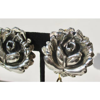 Open Rose Earring in Sterling Silver Preview