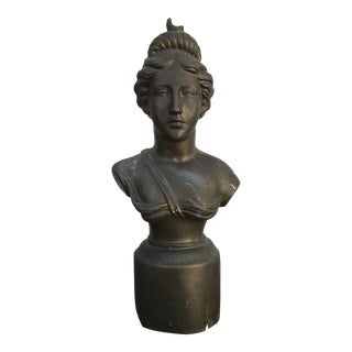 1930s Vintage Woman Bust Statue For Sale