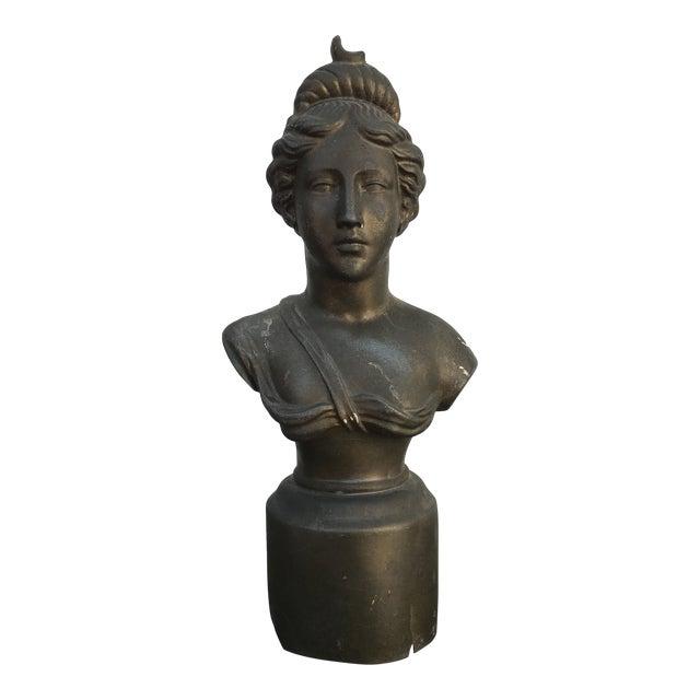 1930s Vintage Woman Bust Statue For Sale