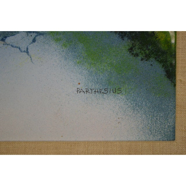 Parthesius Enamel on Copper Southern Belle Framed Painting For Sale - Image 4 of 11