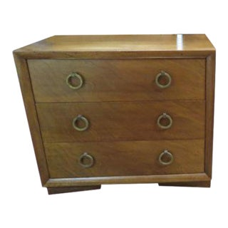 1960s Vintage Widdicomb Walnut 3 Drawer Chest For Sale