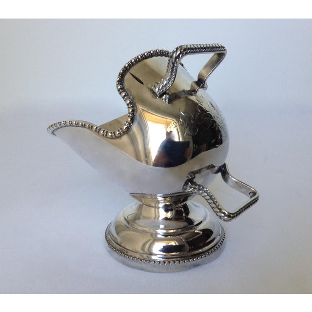 English Silver Plate Salt Cellar with Scoop For Sale In West Palm - Image 6 of 11