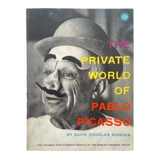 """ the Private World of Pablo Picasso "" Rare Vintage 1958 1st Edition Collector's David Douglas Duncan Photography Book For Sale"