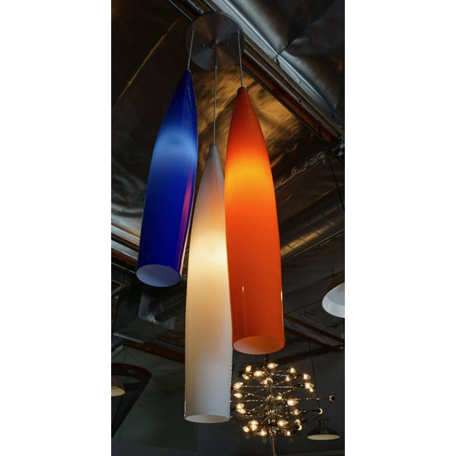 Mid-Century Modern Glass Pendant Lamp by Vistosi For Sale - Image 3 of 7