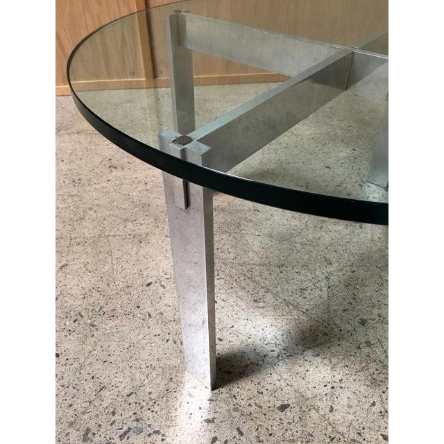 Mid-Century Modern Paul Mayen for Habitat Aluminum X Base Side Table For Sale - Image 3 of 9