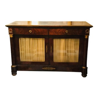 19th Century French Empire Bronze Mounted Credenza For Sale