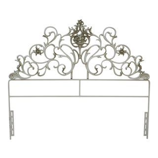 Full Wrought Iron Headboard For Sale