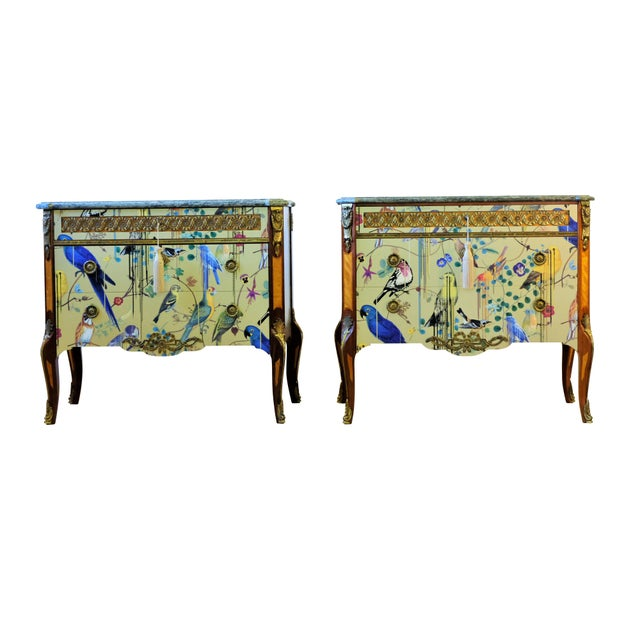 Pair of classic Gustavian Haupt Commodes from the 1960 that has been fully renovated to top condition with a design of...