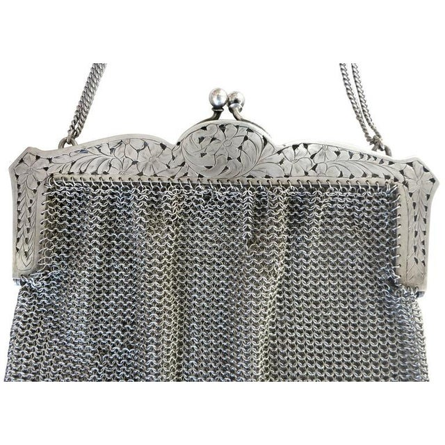 Sterling Silver Victorian Chain Mesh Purse - Image 4 of 5