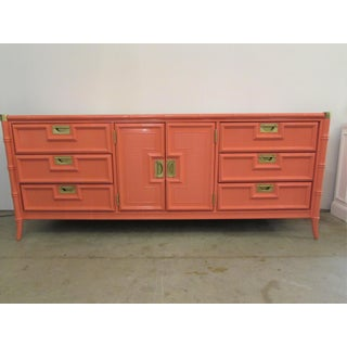Stanley Campaign & Faux Bamboo Lacquered Credenza Preview