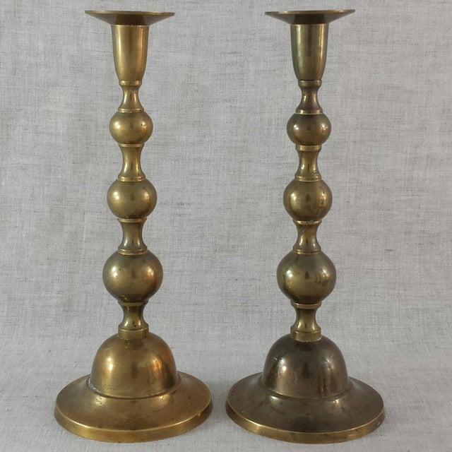 Vintage Brass Candle Holders - Set of 5 - Image 4 of 7