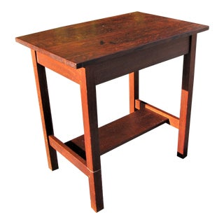 1900s Arts and Crafts Gustav Stickley Small Library Table/ Desk For Sale