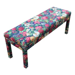 * Final Markdown *Late 20th Century Milo Baughman Parsons Style Long Bench For Sale