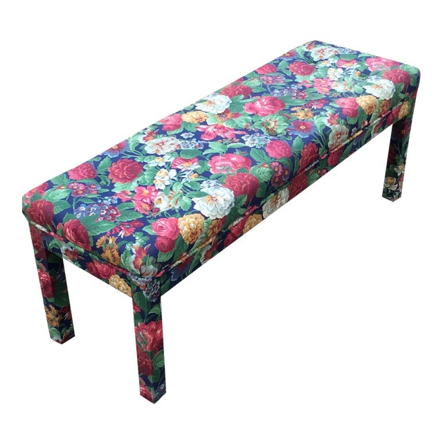 Late 20th Century Milo Baughman Parsons Style Long Bench For Sale