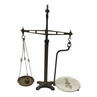 Thomas Steen Brass Tabletop Balance Scale For Sale