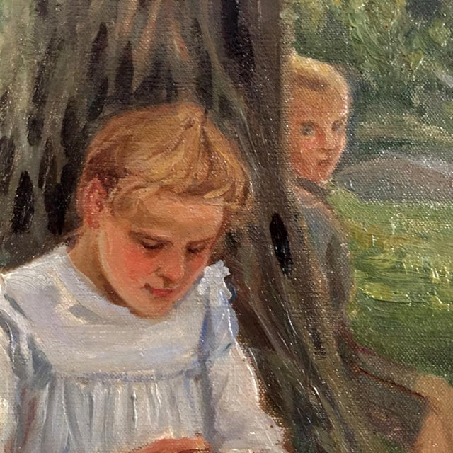 Late 19th Century 19th Century Swedish Painting by Bror Tycho Ödberg For Sale - Image 5 of 12