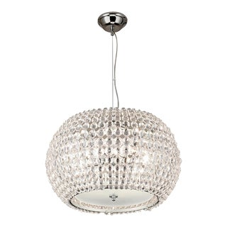 Sparkle Metal and Glass Chandelier For Sale