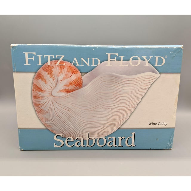 Off-white Fitz and Floyd Nautilus Wine Caddy/Planter For Sale - Image 8 of 9