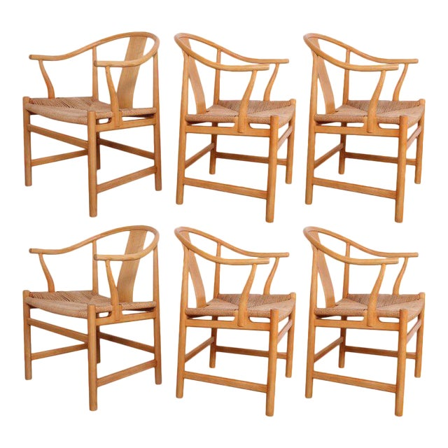 Six Chinese Chairs by Hans Wegner for PP Mobler For Sale