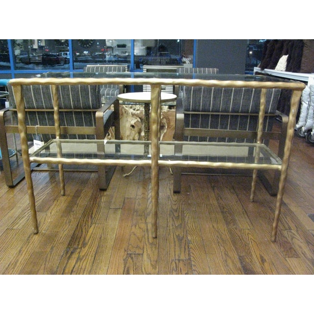 2010s Jamie Young Shelved Console Table For Sale - Image 5 of 5