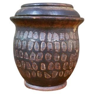 Studio Pottery Lidded Vessel by Herman Volz For Sale