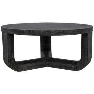 Bent Coffee Table, Cinder Black For Sale