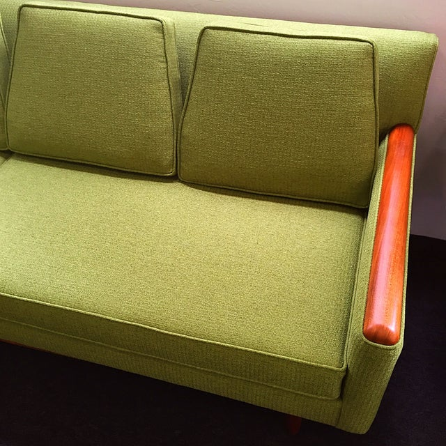 Adrian Pearsall Green Sofa For Sale - Image 6 of 9