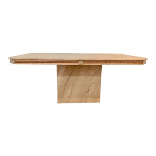 1980s Italian Marble Dining Table For Sale