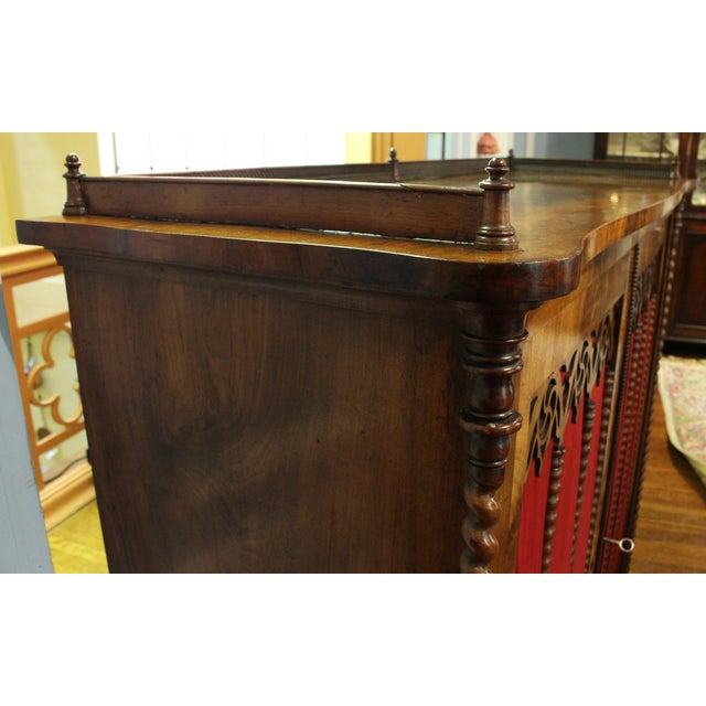 Red Mid 19th Century Vintage German Gothic Revival Cabinet For Sale - Image 8 of 9