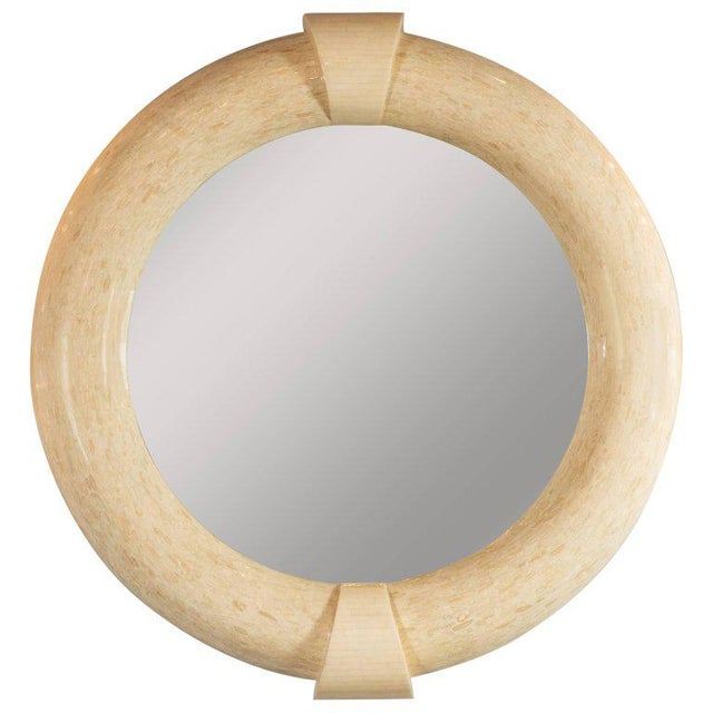 Mid-Century Modern Monumental Tessellated Bone & Antler Mirror by Karl Springer For Sale In New York - Image 6 of 6