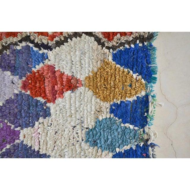1970s Vintage Boucherouite Moroccan Wool Rug - 2′10″ × 6′8″ For Sale - Image 4 of 6