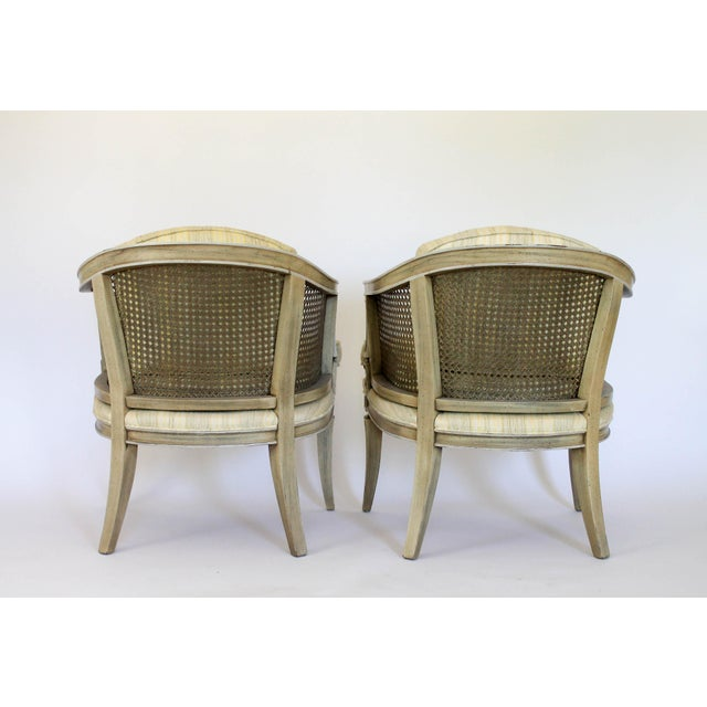 Caned Barrel Chairs - A Pair - Image 5 of 11