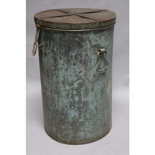 Metal Container. Circa 1920s.
