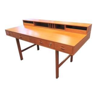 1960s Danish Modern Peter Lovig Nielsen Teak Flip Top Writing Desk