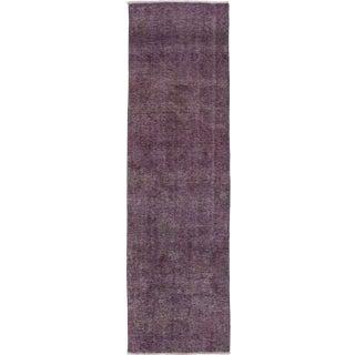 Vintage Mid-Century Persian Purple Rug - 2′5″ × 8′5″ For Sale