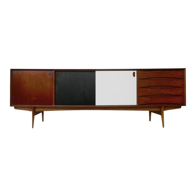 """""""Paola"""" Sideboard by Oswald Vermaercke for V-Form - 1950s For Sale"""