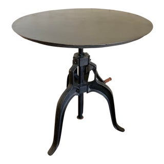 Industrial Anthropologie Crank Table For Sale