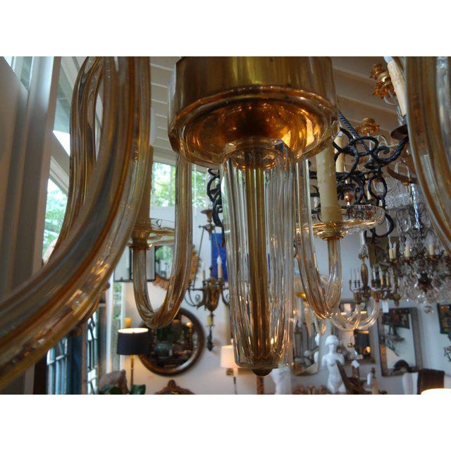 Murano gold glass six light chandelier by seguso circa 1940 chairish murano gold glass six light chandelier by seguso circa 1940 image 3 aloadofball Choice Image