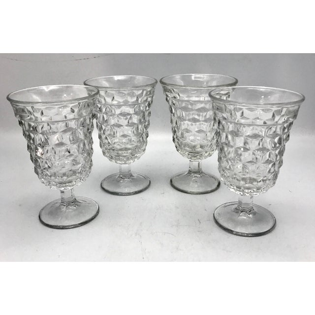 Fostoria Fosteria American Crystal Clear Goblets - Set of 4 For Sale - Image 4 of 7