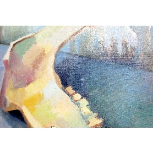 Mid-Century Modern Impressionist Framed Oil Painting on Canvas Signed B. Rosenbaum For Sale - Image 4 of 10