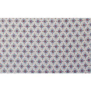 Virginia Kraft Prinz Fabric, Sample in Denim/barn red For Sale