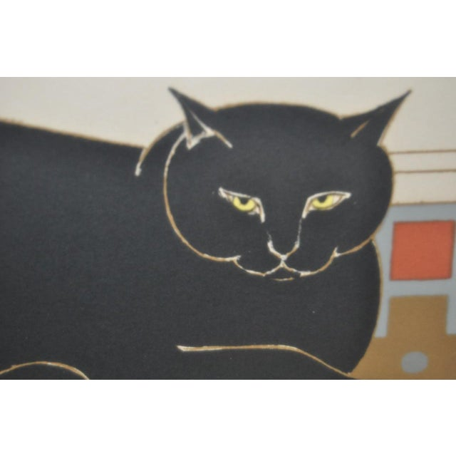 "Will Barnet ""Cat and Canary"" Pencil Signed Lithograph C.1970s For Sale In San Francisco - Image 6 of 10"