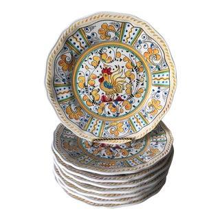 "8 Le Cadeaux 11""Rooster Melamine Dinner Plates For Sale"