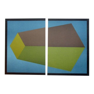 Sol LeWitt Original Noise Art Revue Framed 2 Piece Lithographs, Maeght, Paris, 1987 For Sale