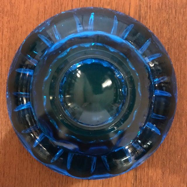 Vintage Blue Art Glass Dish - Image 5 of 6